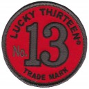 Patch Lucky 13 thirteen trade mark numéro 13 red rouge